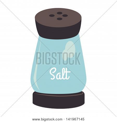 salt bottle glass, isolated flat icon design