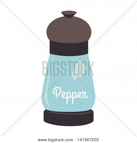 Pepper bottle glass, isolated flat icon design