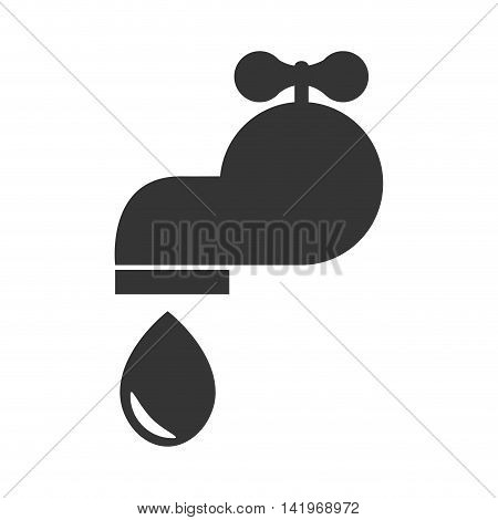 water tap faucet , isolated flat icon design