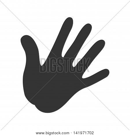 human hand palm isolated flat icon design