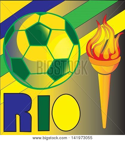 Kick Your game up with an Olympic Torch and Soccer Ball celebrating the 2016 Rio Olympics!