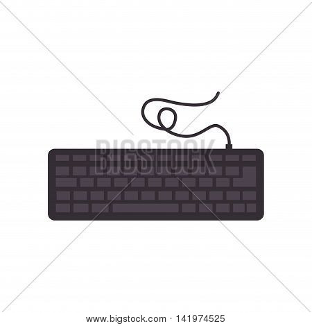 keyboard pc device technology computer gear equipment vector graphic isolated and flat illustration
