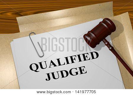 Qualified Judge - Legal Concept