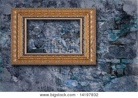 classic frame on grunge background
