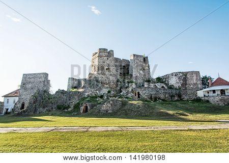 Castle ruins in Levice city Slovak republic. Ancient architecture. Travel destination. Tourism theme.