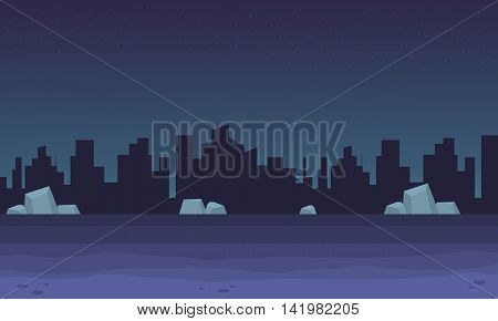 scenery city bakgrounds game vector art illustration