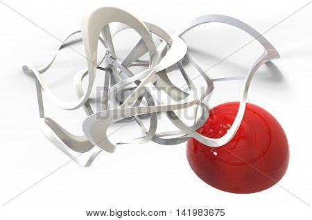 3D Rendering Of Abstract Organic Looking Geometry Forms