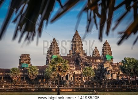 Angkor Wat temple near Siem Reap in Cambodia
