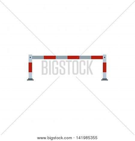 Barrier icon in flat style isolated on white background