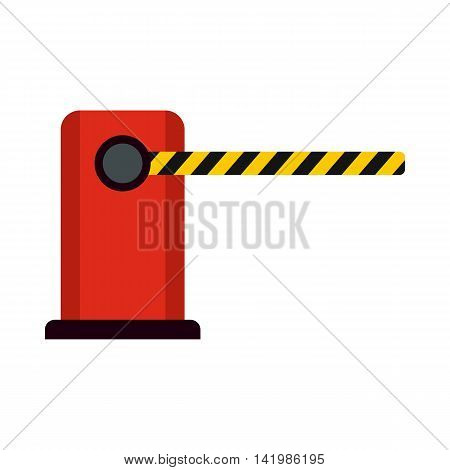 Parking barrier icon in flat style isolated on white background