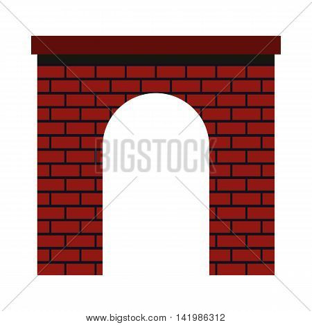 Brick arch icon in flat style on a white background