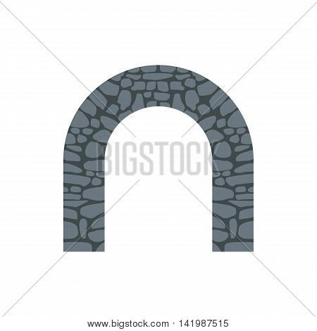 Stone arch icon in flat style on a white background