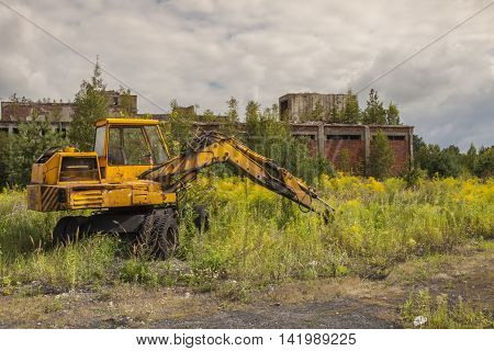 Old abandon digger in paperworks. Kalety - Poland Silesia province Europe.
