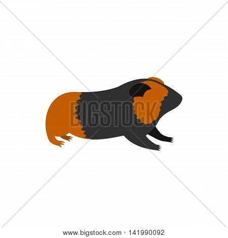 Guinea pig, cavy icon in flat style on a white background