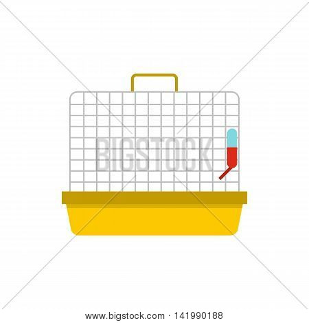 Animal cage icon in flat style on a white background
