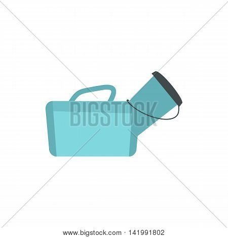 Medical bag icon in flat style on a white background