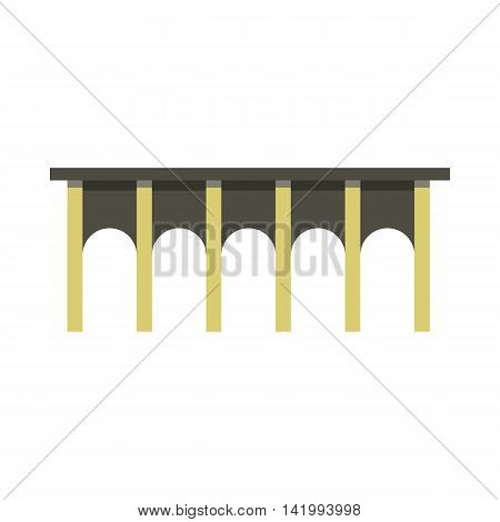 Arch bridge icon in flat style on a white background