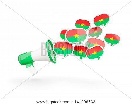 Megaphone With Flag Of Burkina Faso