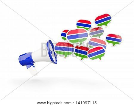 Megaphone With Flag Of Gambia
