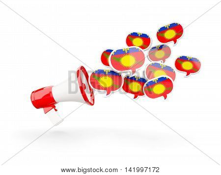Megaphone With Flag Of Guadeloupe