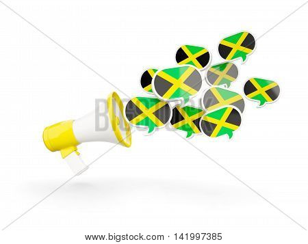 Megaphone With Flag Of Jamaica