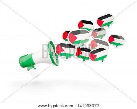 Megaphone With Flag Of Palestinian Territory