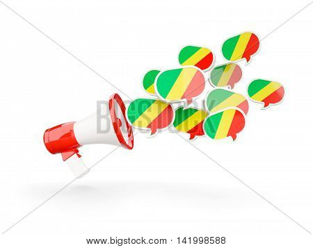 Megaphone With Flag Of Republic Of The Congo