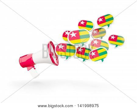 Megaphone With Flag Of Togo
