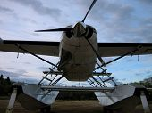 picture of cessna  - A shot of the Cessna Caravan on Amphiious Whipline floats out of water - JPG