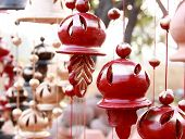 image of windchime  - hanging decorative wind chimes made out of clay - JPG
