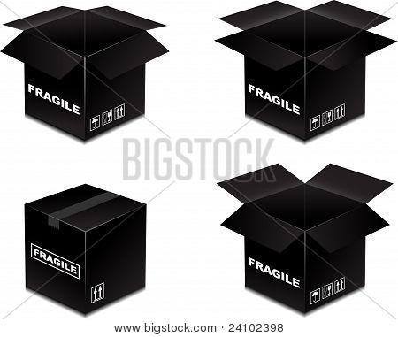 Box Black Fragile