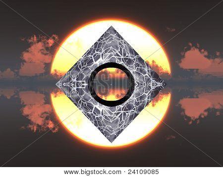 Pyramide und Sonne