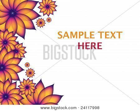 Flower Frame White Background