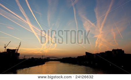 Congested Sky At Sunrise