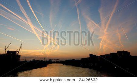 Congested Sky At Sunrise
