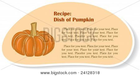 Big pumpkin, vector illustration