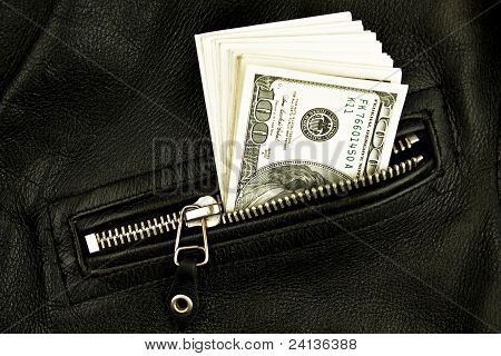Money In  Pocket Of Jacket.