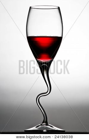 Curved Wine Glass