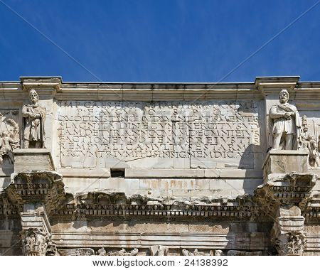 arch of Constantine ((Rome Italy)