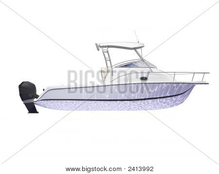 Fish Boat Isolated Side View