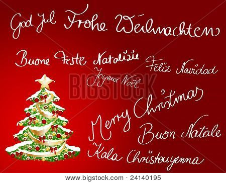 Multilingual Christmascard