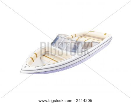 Kleinboot isoliert Vorderansicht