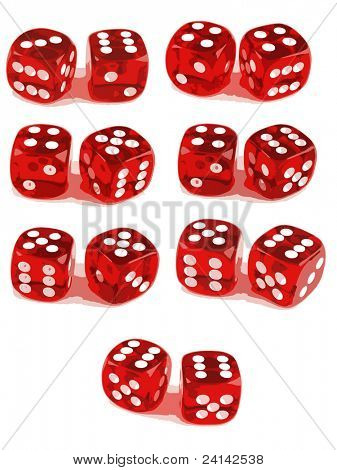 2 Dice Showing all number combinations (3 of 3). File 1ID:4816705 File 2 ID:4816708
