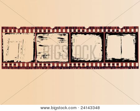 4 Grunge Film Cells