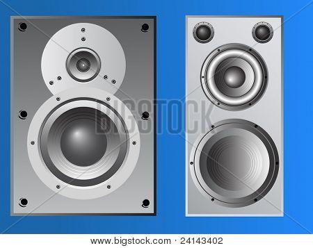 2 Large Loudspeaker cabinets in vector format