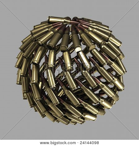 Sphere, Planet Made Of Bullets