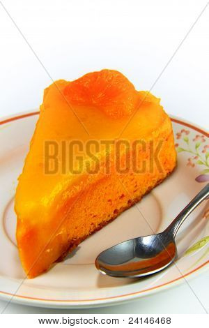 Orange Cake Isolated On White Background