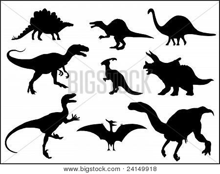 Dinosaurus silhouettes