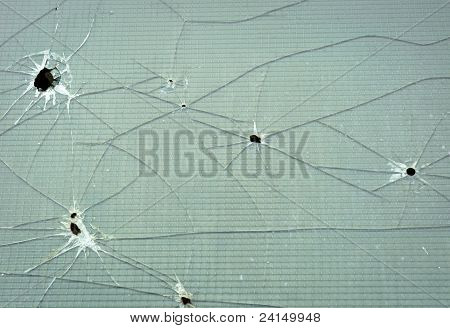 Abstract Background Of A Cracked Window