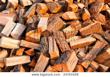 Chopped Fire Wood Ready For Winter Cold